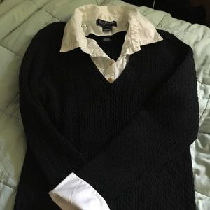 EUC Jones New York Signature Woman black sweater
